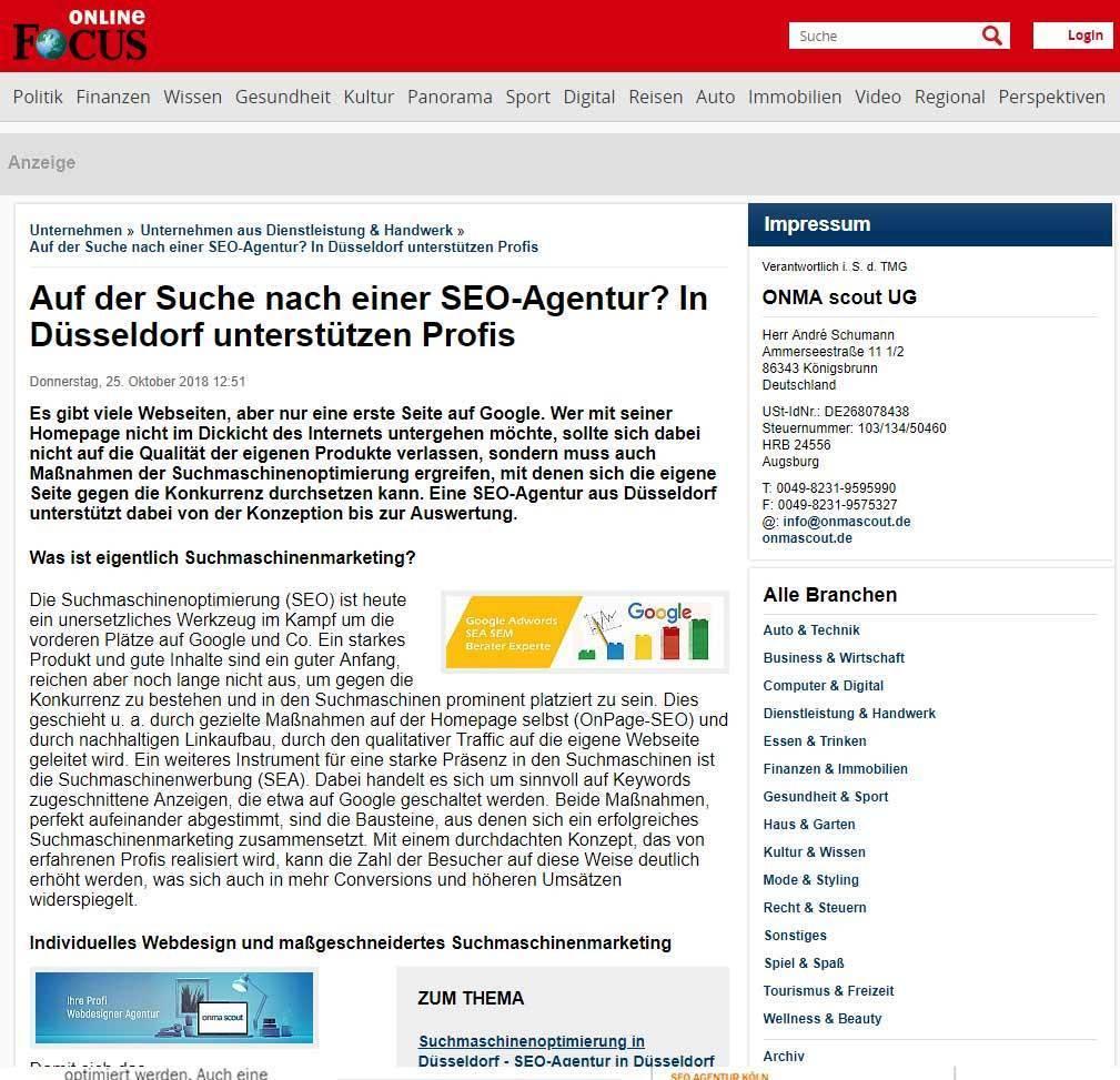 SEO Agentur Düsseldorf