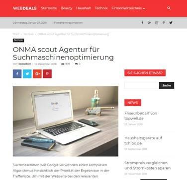Agentur für Suchmaschinenoptimierung