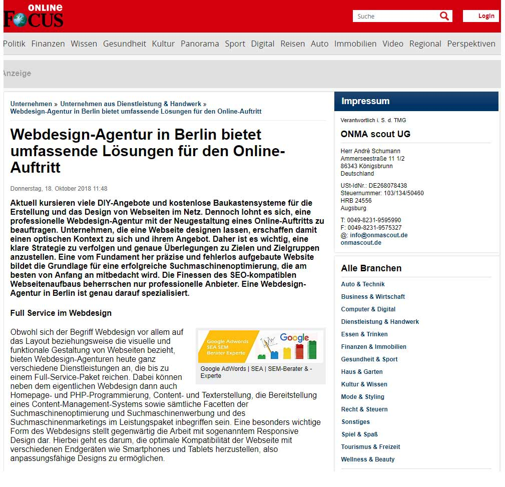 Webdesign Agentur Berlin