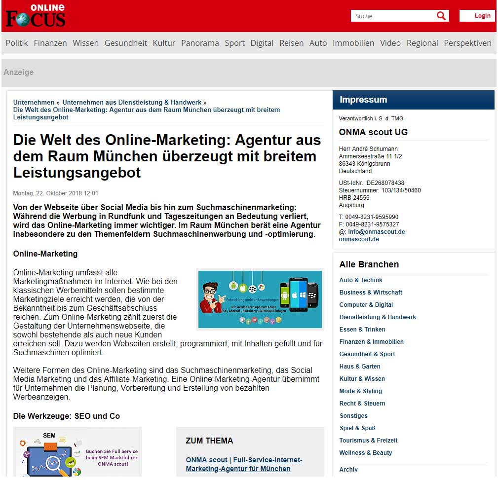 Online Marketing Agentur München